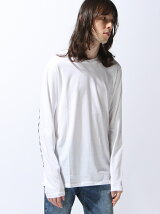 (M)袖プリント長袖Tシャツ・カットソー