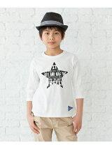 プリント七分袖Tシャツ