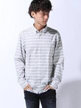 (M)NFコットンボーダーシャツ