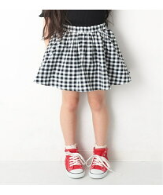 devirock 総柄ミニ丈ギャザースカッツ 女の子 ベビー ボトムス スカート デビロックストア 子供服 キッズ デビロック スカート フレアスカート ブラック ピンク ブルー