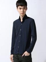 フェイクレイヤード長袖カットシャツ