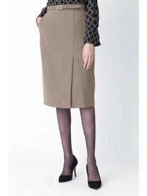 【SALE/35%OFF】PINKY&DIANNE [ウォッシャブル]ダブルラップスリットスカート ピンキー アンド ダイアン スカート スカートその他 ベージュ ブラック【送料無料】