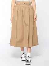 【Dispark】(L)ベルト付きフレアスカート