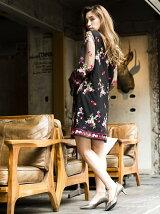 チュール刺繍ワンピース[DRESS/ドレス]