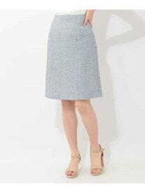 【SALE/50%OFF】OFUON 【洗える】ツイードスカート オフオン スカート スカートその他 ブルー イエロー【送料無料】