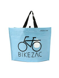 BEAMS MEN BIKEZAC / WOVEN PP エコ トート バッグ BEAMS ビームス 自転車 買い物 マルシェバッグ エコバッグ サイドバッグ サイドバスケット 後付け かご ビームス メン バッグ トートバッグ ブルー ホワイト イエロー