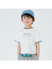 COMME CA ISM 【キッズ・ベビーおそろいアイテム】マドラスチェック使い Tシャツ コムサイズム カットソー