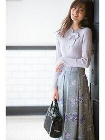 【SALE/48%OFF】MISCH MASCH ツイードフラワーミディースカート ミッシュ マッシュ スカート フレアスカート ブルー ピンク【送料無料】