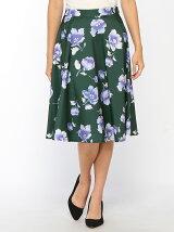 花柄ミモレスカート