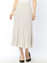 ラメニットプリーツスカート