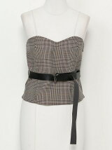 BELTED BUSTIER(CHECK)