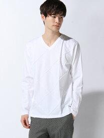 【SALE/60%OFF】SPENDY'S Store アーガイルピンタックVネックカットソー スペンディーズストア カットソー Tシャツ ホワイト ブラック レッド