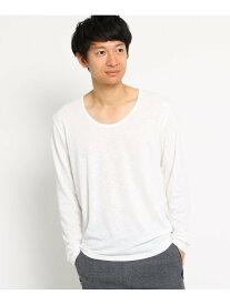 【SALE/30%OFF】BASECONTROL SBSSUネック長袖Tシャツ ベース ステーション カットソー Tシャツ ホワイト ブラック ネイビー