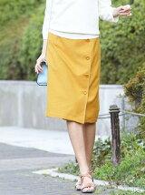 ステッチデザインラップ風スカート