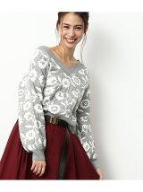【2WAY】花柄ジャガードプルオーバー