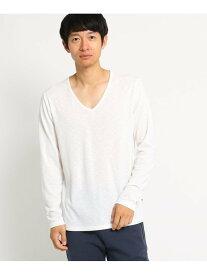 【SALE/30%OFF】BASECONTROL SBSS長袖V ベース ステーション カットソー Tシャツ ホワイト ブラック ネイビー