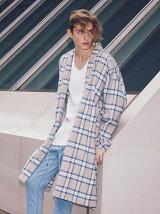 <monkey time> CHECK SAMUE COAT/コート