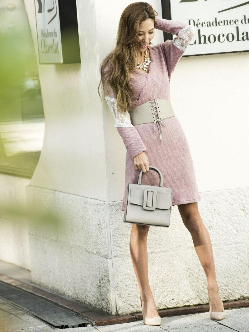 【SALE/30%OFF】Million Carats スカラップニットワンピース[DRESS/ドレス] ミリオンカラッツ ワンピース【RBA_S】【RBA_E】【送料無料】