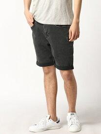 【SALE/74%OFF】Calvin Klein Jeans CALVIN KLEIN JEANS/ストレートクロップドジーンズ カルバン・クライン パンツ/ジーンズ ショートパンツ ブラック【送料無料】