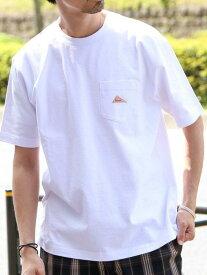 【SALE/50%OFF】coen 【女性にもオススメ】KELTY(ケルティ)別注ポケットTシャツ(一部WEB限定カラー) コーエン カットソー Tシャツ ホワイト ブラック グレー ベージュ ブラウン パープル
