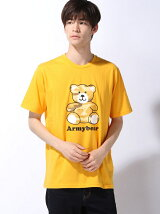 【BROWNY】(M)カモフラベアモチーフTシャツ