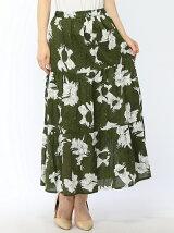 花柄ティアードマキシスカート