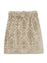 パイルジャガード台形スカート