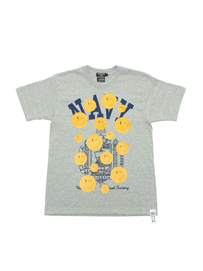 BEAMS T OVER Tee / Navy Wink Smile Tee ビームスT カットソー【送料無料】