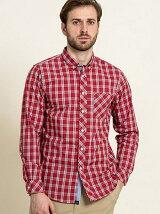 (M)吸水速乾 タータンチェックBDシャツ