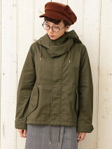 (W)ミリタリーフードジャケット