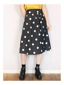 【SALE/62%OFF】dazzlin ポルカドットスカート ダズリン スカート フレアスカート ブラック パープル ベージュ