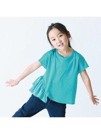 【SALE/70%OFF】COMME CA ISM フリルTシャツ コムサイズム カットソー Tシャツ ブルー ホワイト