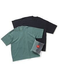 ADAM ET ROPE' 【Hanes for BIOTOP】2P Mock-Neck T-Shirts / Unisex アダムエロペ カットソー カットソーその他 ネイビー ブラック【送料無料】