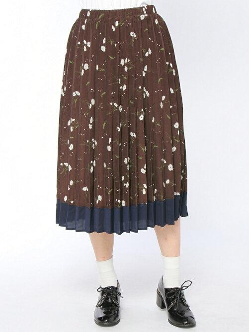デイジープリントプリーツスカート