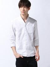 イタリアンカラー7ブシャツ