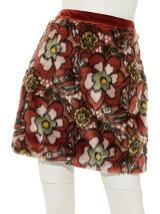 ジャガードファー台形スカート