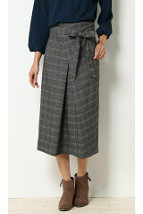 T/RセミAラインベルト付きスカート