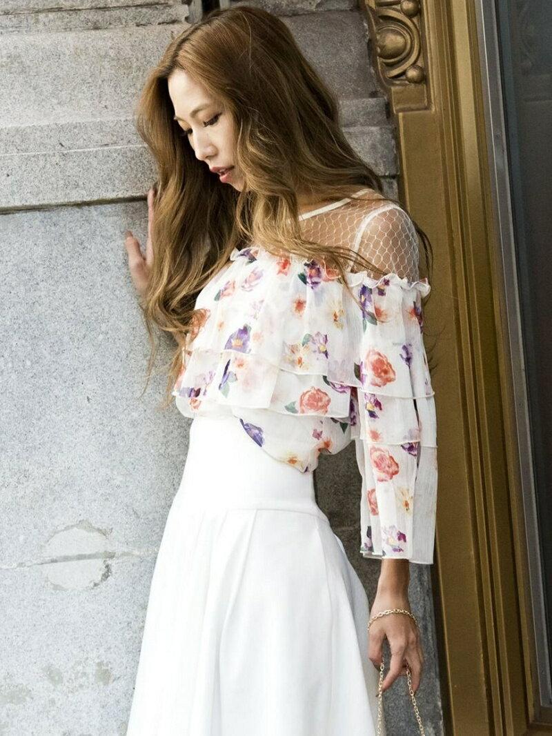 【SALE/30%OFF】Million Carats フラワーフリルブラウス[DRESS/ドレス] ミリオンカラッツ ワンピース【RBA_S】【RBA_E】【送料無料】