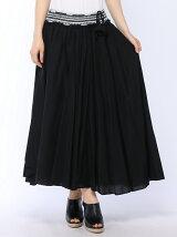 コットンボイルウエスト刺繍スカート