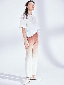 styling/ アシンメトリーラッフルトップス スタイリング カットソー Tシャツ ホワイト ブラック【送料無料】