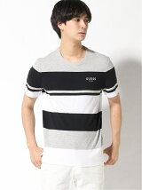 (M)Logo Striped Tee