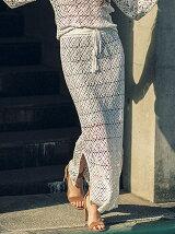 【La】クロシェパッチワークニットスカート