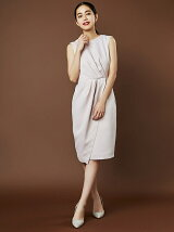 Ladyタックラップタイトドレス
