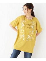 フラワー刺繍×ロゴチュニック