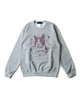 BEAMS T / TRAVIS MILLARD Crewneck Sweatshirt