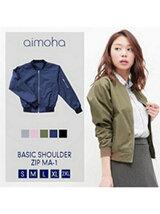 aimoha/ショルダージップMA-1
