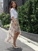 チュール刺繍スカート[DRESS/ドレス]