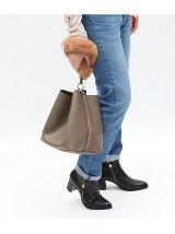【2WAY】ファーハンドルバッグ