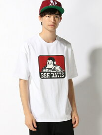 【SALE/30%OFF】BEN DAVIS (M)ベンデイビスロゴBIGTシャツ ウィゴー カットソー Tシャツ ホワイト グリーン ブラック ベージュ
