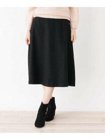 【SALE/33%OFF】SHOO・LA・RUE サキソニー調サイドボタンフレアスカート シューラルー スカート スカートその他 ブラック ブラウン